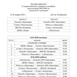 V межрегиональный турнир памяти К.Н. Антоновой.